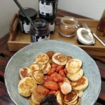 Mini pancakes na kefirze z jagodą kamczacką